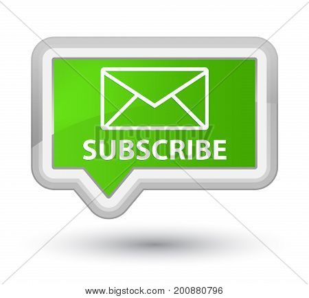 Subscribe (email Icon) Prime Soft Green Banner Button