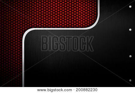 metal template with dot design background