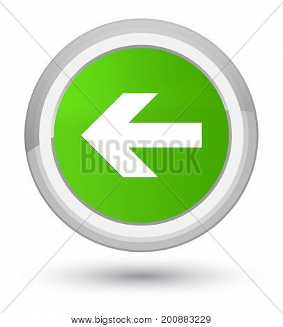 Back Arrow Icon Prime Soft Green Round Button