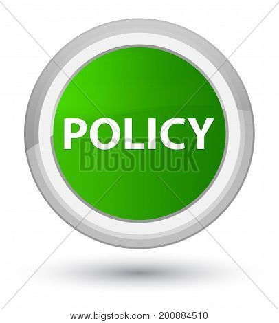 Policy Prime Green Round Button