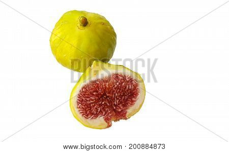 Fresh fig fruits isolated on white background