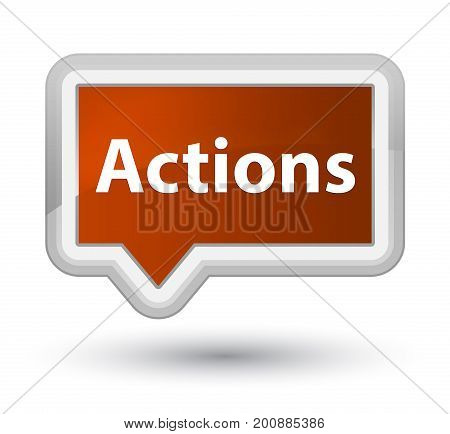 Actions Prime Brown Banner Button