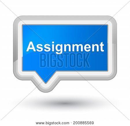 Assignment Prime Cyan Blue Banner Button