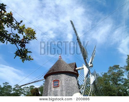 Wind Mill And Sky