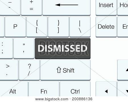 Dismissed Black Keyboard Button