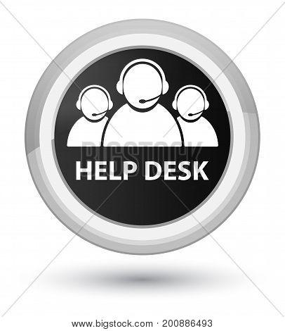 Help Desk (customer Care Team Icon) Prime Black Round Button