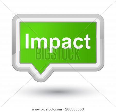 Impact Prime Soft Green Banner Button