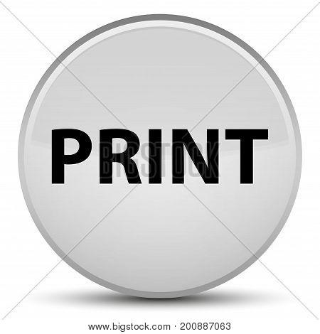 Print Special White Round Button