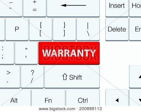 Warranty Red Keyboard Button