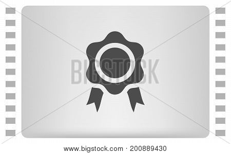 Flat Paper Cut Style Icon Of Seal