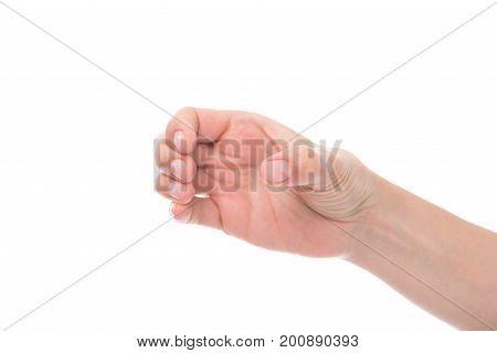 Hand Pretending Holding Glass