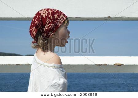 Sweet Girl On A Dock