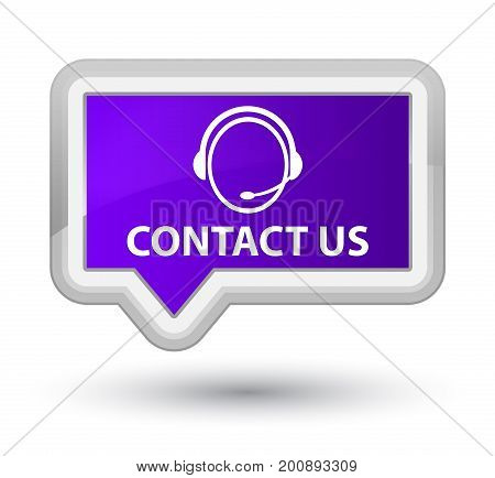 Contact Us (customer Care Icon) Prime Purple Banner Button