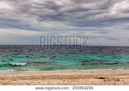 Sea At Balicasag Island Near Bohol In Philipines.