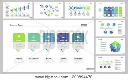 Infographic design set can be used for workflow layout, diagram, annual report, presentation, web design. Business and workflow concept with process and flow charts.