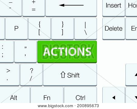Actions Soft Green Keyboard Button