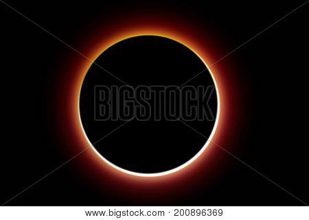 Solar eclipse of  illumination design background illustration.