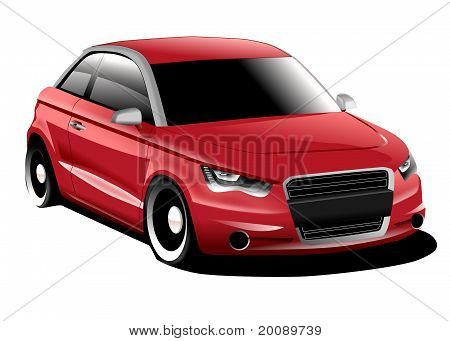 Compact car illustration