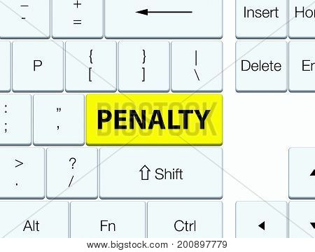 Penalty Yellow Keyboard Button