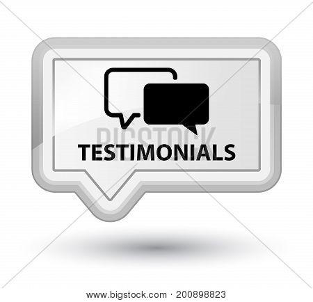 Testimonials Prime White Banner Button
