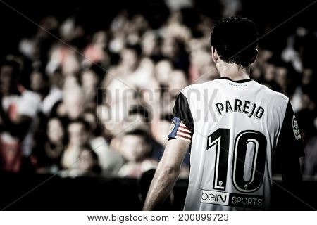 VALENCIA, SPAIN - AUGUST 18: Dani Parejo during Spanish La Liga match between Valencia CF and Las Palmas UD at Mestalla Stadium on August 18, 2017 in Valencia, Spain