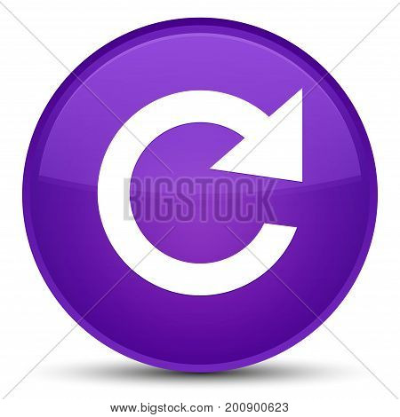 Reply Rotate Icon Special Purple Round Button