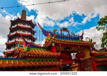 Tua Pek Kong Temple The Beautiful Chinese Temple Of The Sibu City, Sarawak, Malaysia, Borneo