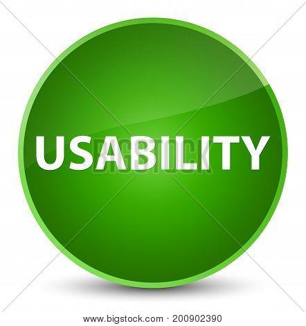 Usability Elegant Green Round Button
