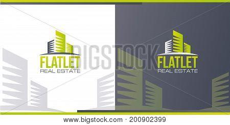 vector illustration logo. construction firm. logo Real Estate Agency. rental housing sample logo graphics. creative design
