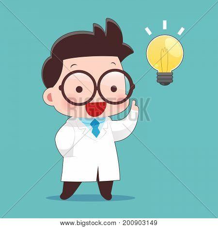 Scientists Got Idea Vector - Idea Concept With Character Design Vector Illustration 10 EPS