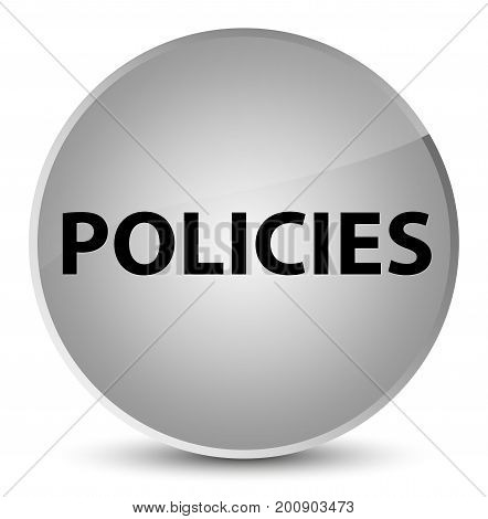 Policies Elegant White Round Button