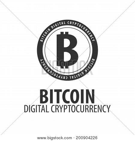 Bitcoin Logo And Emblem. Digital Cryptocurrency. Techology Emblem.