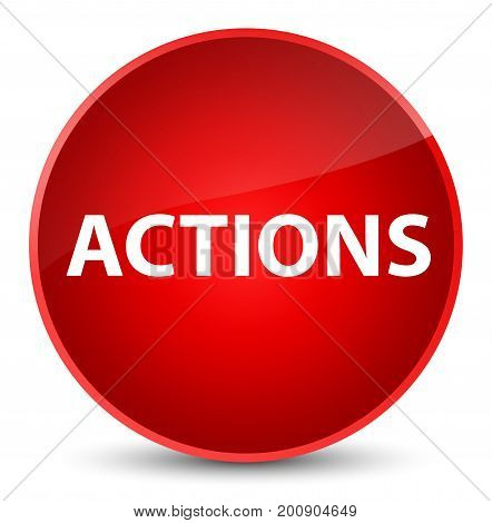 Actions Elegant Red Round Button