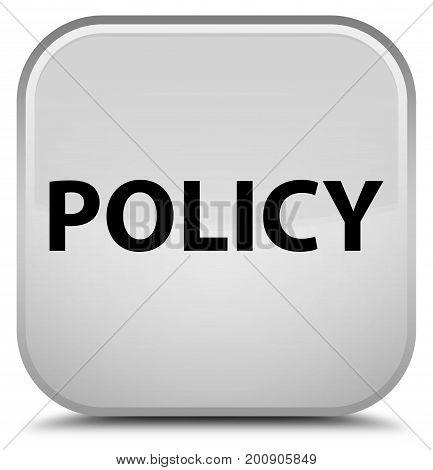 Policy Special White Square Button