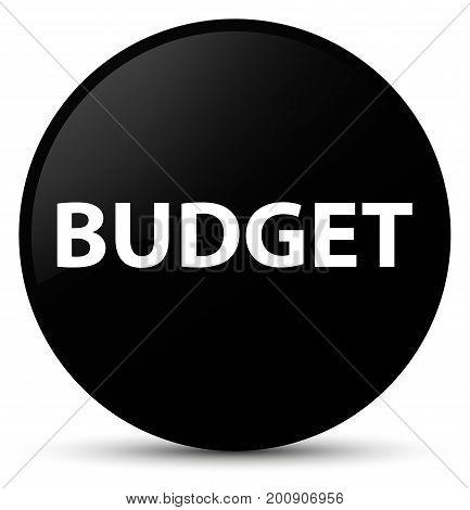 Budget Black Round Button