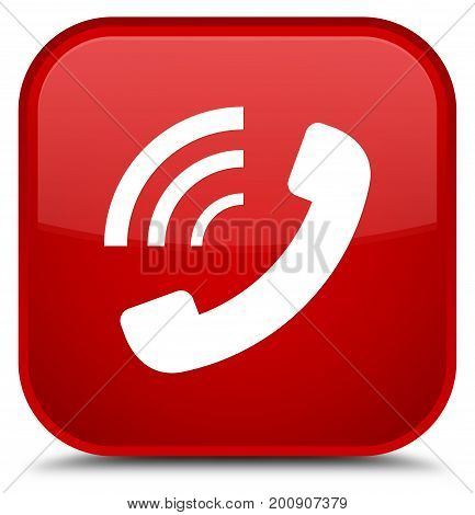 Phone Ringing Icon Special Red Square Button