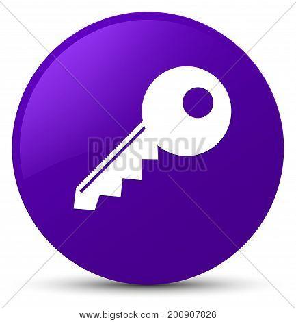 Key Icon Purple Round Button