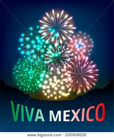 Viva Mexico. Poster for Mexican Independence Day