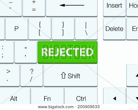 Rejected Soft Green Keyboard Button