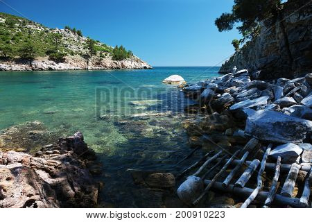 Beautiful seaview on the Thassos island, Greece