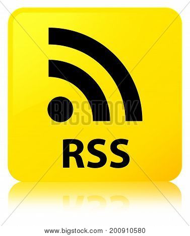 Rss Yellow Square Button