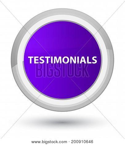 Testimonials Prime Purple Round Button