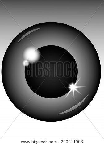 Black eyeball vector - simple human eyeball