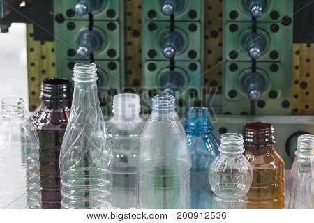The sample of plastic bottle.Plastic bottle container product.Plastic bottle manufacturing concept.