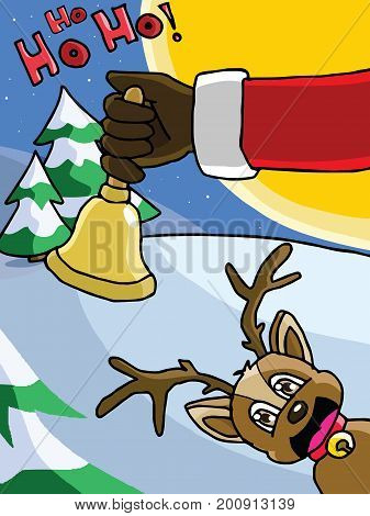The bell in Santa Claus's hand vibrate. It's time to send the gifts