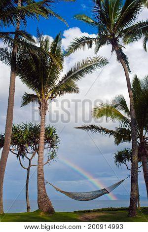 Rainbow Tropical Paradise Beach