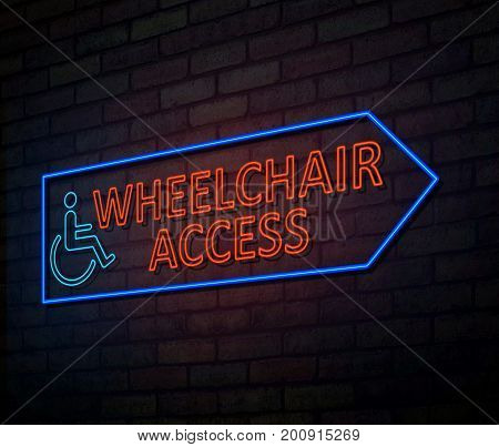 Wheelchair Access Concept.