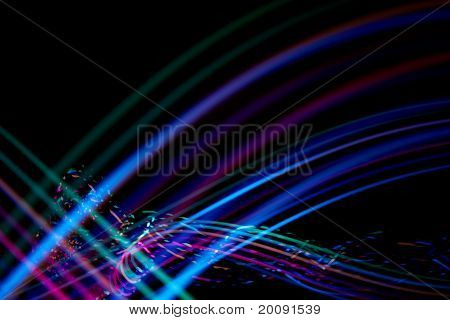 Colorful Traces Of Light