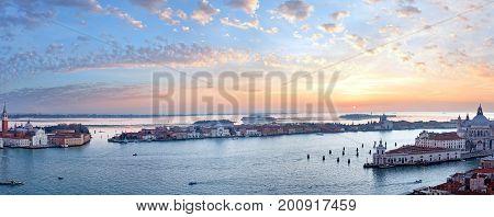Venice City (italy) Sunset View. Panorama.