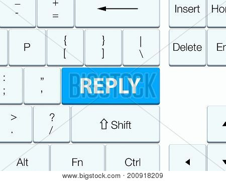 Reply Cyan Blue Keyboard Button